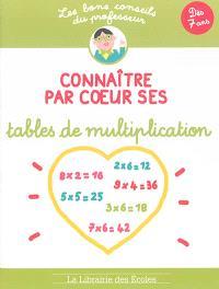 Connaître par coeur ses tables de multiplication
