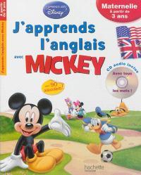 J'apprends l'anglais avec Mickey : maternelle, à partir de 3 ans