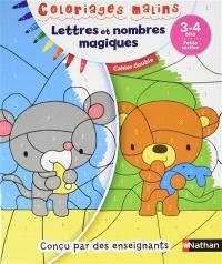 Lettres et nombres magiques, 3-4 ans, petite section : cahier double