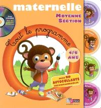 Maternelle, moyenne section : 4-5 ans