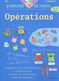Opérations, CM1-4e primaire, 9-10 ans : exercices de calcul - Esther Wuyts - Librairie Mollat ...