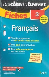 Français 3e : nouveau programme collège