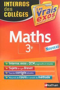 Maths 3e : les vrais exos donnés par les profs