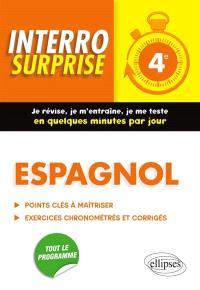 Espagnol 4e : points clés à maîtriser, exercices chronométrés et corrigés