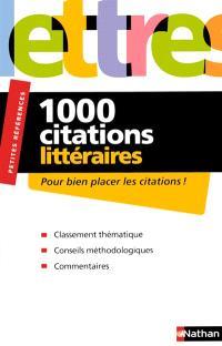 1.000 citations littéraires