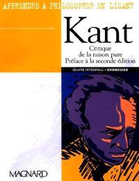Critique de la raison pure : préface à la seconde édition