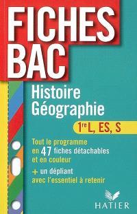 Histoire géographie 1re L, ES, S