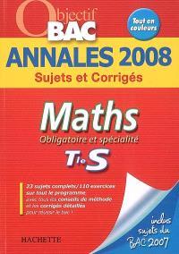 Maths obligatoire et spécialité terminale S : sujets et corrigés