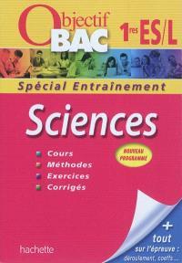 Sciences 1res ES, L : nouveau programme