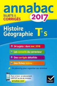 Histoire géographie terminale S : 2017
