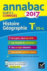 Histoire géographie terminale ES, L : 2017