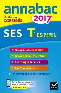 SES terminale ES spécifique & spécialité : 2017
