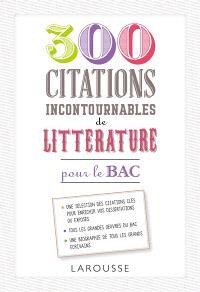 500 citations incontournables de littérature pour le bac