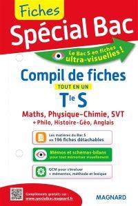 Compil de fiches, terminale S : tout en un : maths, physique chimie, SVT + philo, histoire géo, anglais