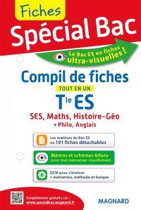 Compil de fiches, terminale ES : tout en un : SES, maths, histoire géo + philo, anglais