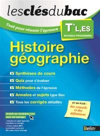 Histoire géographie terminale L, ES : nouveau programme