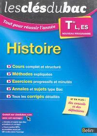 Histoire terminale L, ES : nouveau programme