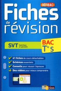 SVT spécifique et spécialité, bac terminale S : fiches de révision