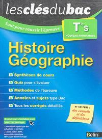 Histoire géographie terminale S : nouveau programme