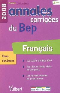 Français tous secteurs : BEP 2008
