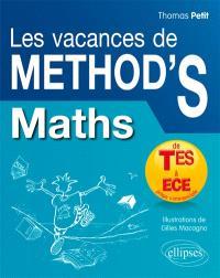 Les vacances de Method'S, Mathématiques : de la terminale ES aux prépas commerciales, ECE