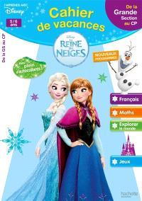 Cahier de vacances La reine des neiges : de la grande section au CP, 5-6 ans : nouveaux programmes