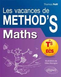Les vacances de Method'S, Mathématiques : de la terminale S aux prépas commerciales, ECS
