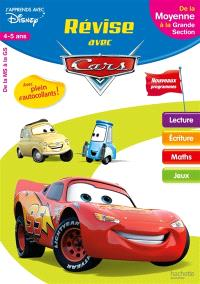 Révise avec Cars : de la moyenne à la grande section, 4-5 ans : nouveaux programmes