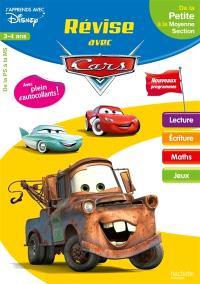 Révise avec Cars : de la petite à la moyenne section, 3-4 ans : nouveaux programmes