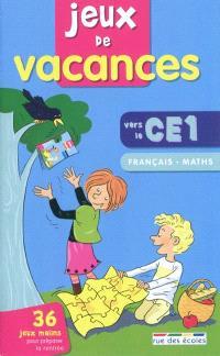 Jeux de vacances, vers le CE1 : français, maths