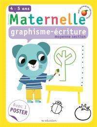 Maternelle, graphisme-écriture, moyenne section, 4-5 ans
