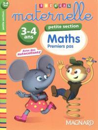 Maths petite section, 3-4 ans : premiers pas