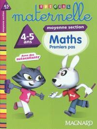 Maths, moyenne section, 4-5 ans : premiers pas