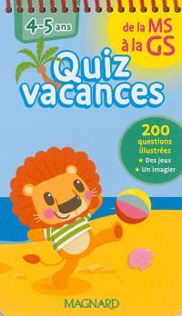 Quiz vacances : de la MS à la GS, 4-5 ans