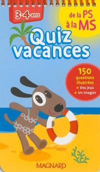 Quiz vacances : de la PS à la MS, 3-4 ans
