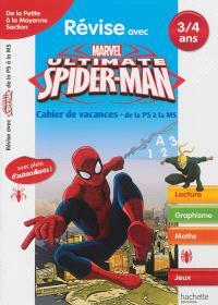 Révise avec Spider-Man : cahier de vacances de la petite à la moyenne section, 3-4 ans : lecture, graphisme, maths, jeux