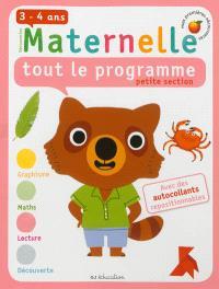 Maternelle, tout le programme, petite section, 3-4 ans
