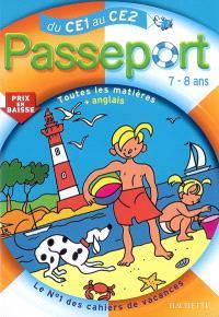 Passeport du CE1 au CE2, 7-8 ans : toutes les matières + anglais