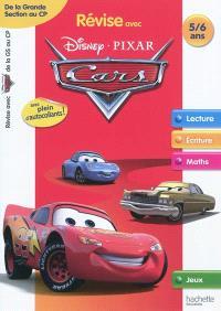 Révise avec Disney-Pixar Cars : de la grande section au CP, 5-6 ans : lecture, écriture, maths, jeux