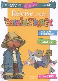 Révise avec les copains de la forêt, de la grande section au CP, 5-6 ans : lecture, écriture, maths et des jeux