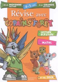 Révise avec les copains de la forêt, de la moyenne section à la grande section, 4-5 ans : lecture, écriture, maths et des jeux