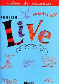 English live : de la 4e à la 3e