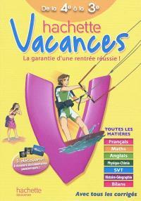 Hachette vacances, de la 4e à la 3e, 13-14 ans