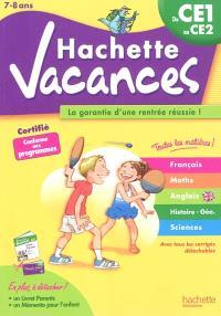 Hachette vacances, du CE1 au CE2, 7-8 ans : la garantie d'une rentrée réussie !