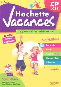 Hachette vacances, du CP au CE1, 6-7 ans : la garantie d'une rentrée réussie !