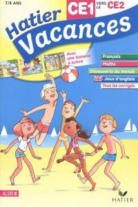 Hatier vacances, CE1 vers le CE2, 7-8 ans : Paul, Camille, Hugo et Eva au camping du phare
