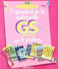L'essentiel de la maternelle grande section en 8 posters : français, maths, découverte du monde, éducation civique