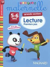 Lecture, grande section, 5-6 ans : premiers pas