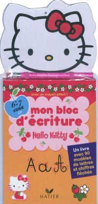 Mon bloc d'écriture Hello Kitty : 6-7 ans