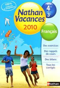 Nathan vacances 2010, de la 4e vers la 3e : français